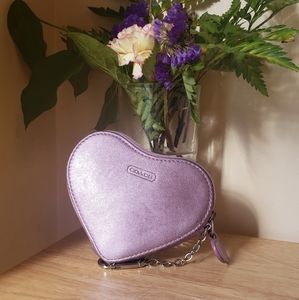 Authentic Coach Heart Shaped Coin Purse / …
